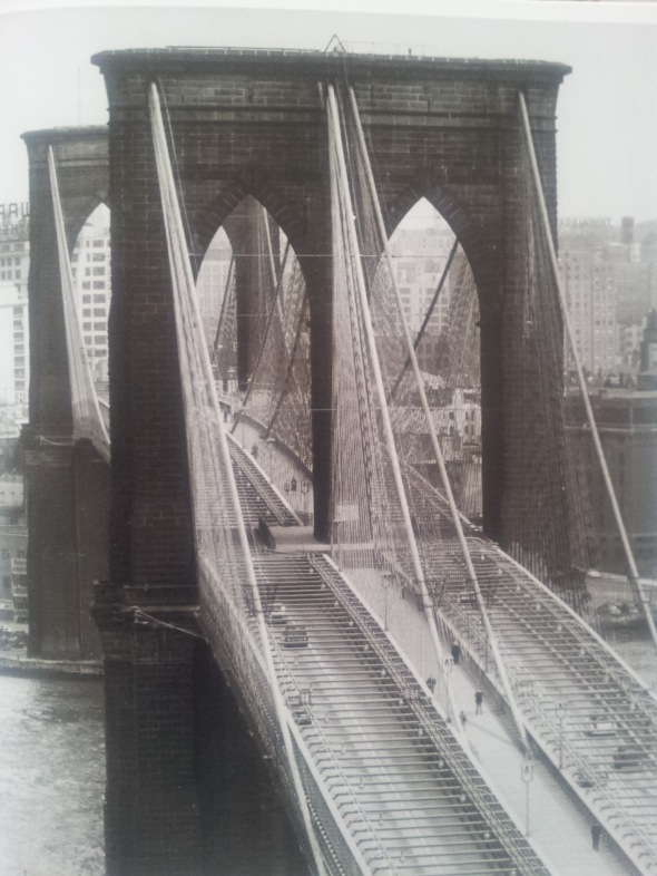 Andreas Feininger - Brooklyn Bridge - 1954. Photo taken from book, using  Goggles