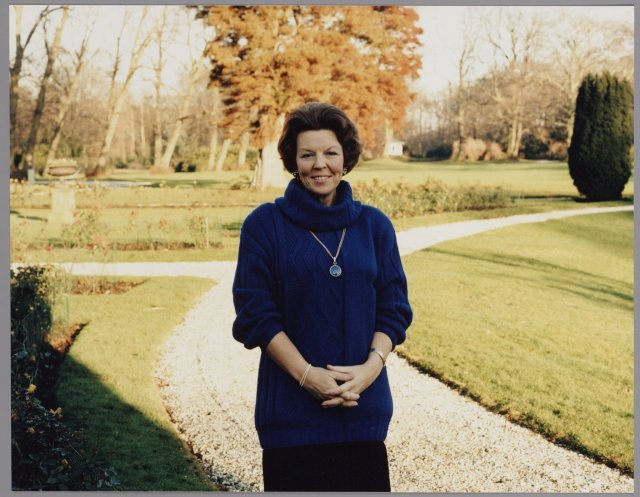 Koningin Beatrix gefotografeerd door Prins Claus ini 1987