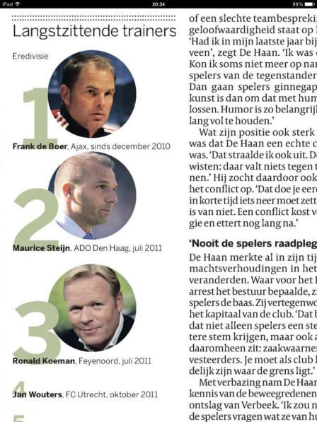 Artikel in de Volkskrant van 3 oktber 2013