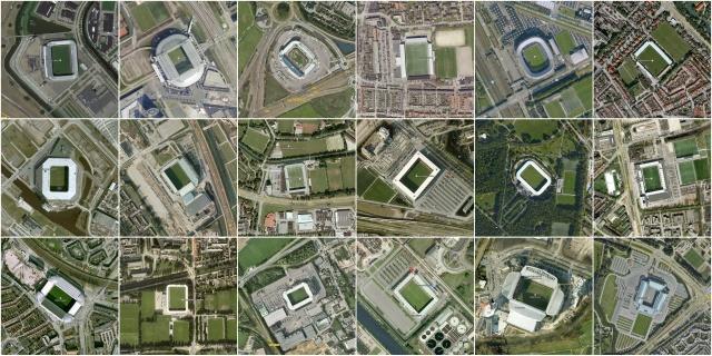 De 18 stadions van de Nederlandse Eredivisie (seizoen 2013-2014)