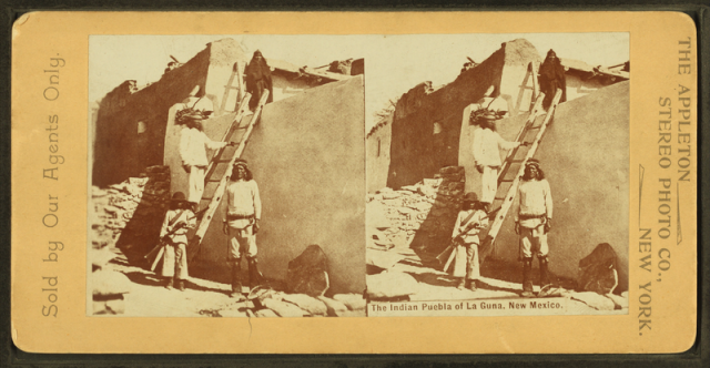 The Indian Puebla of La Guna, New Mexico. By Appleton Stereo Photo Co. Ca. 1900.