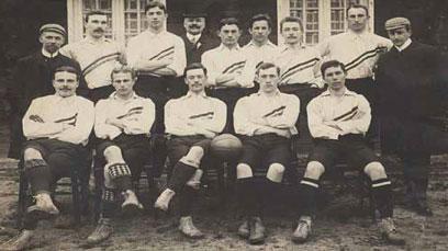 Eerste elftalfoto Nederlands Elftal, 1905